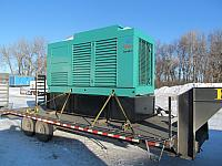 230 kw Onan Loaded on Truck (Reliable Hosting Services - Berkeley Spring, WV) 12-17-13 (2)